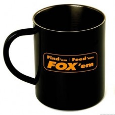 Fox Stainless Black Mug XL